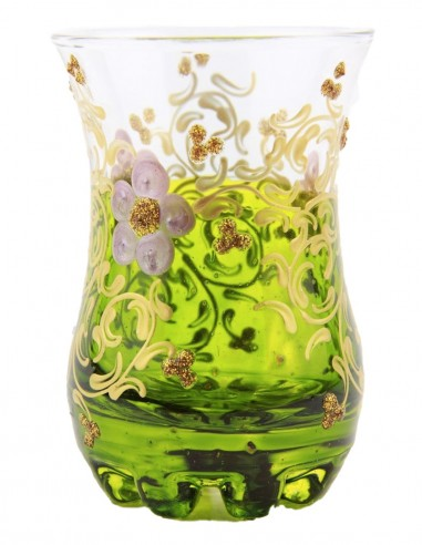 Verre à thé tunisien motif 1 vert