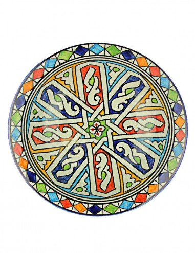 Moroccan plate from Fes 7,75 inch