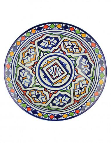 Assiette marocaine de Fes 7,75 p
