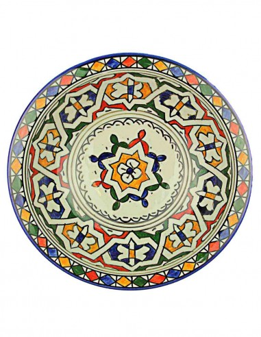 Moroccan plate from Fes 9,5 inch