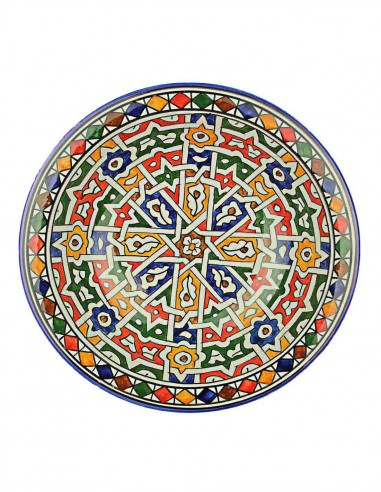 Moroccan plate from Fes 10,75 inch