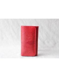 Portefeuille en cuir rouge moyen motif 3