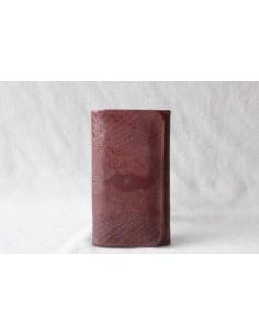 Portefeuille en cuir marron moyen motif 3