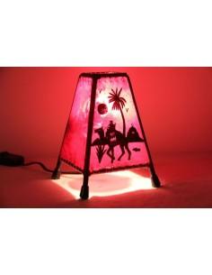 Lampe de table petite rouge