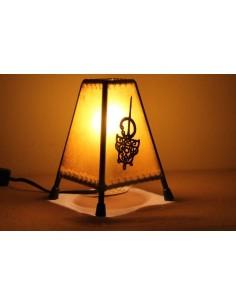 Lampe de table petite mauve paysage